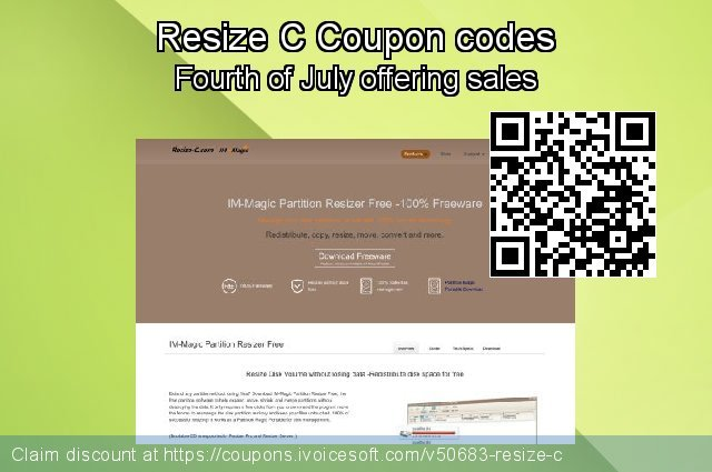 Resize C Coupon code for 2019 Working Day