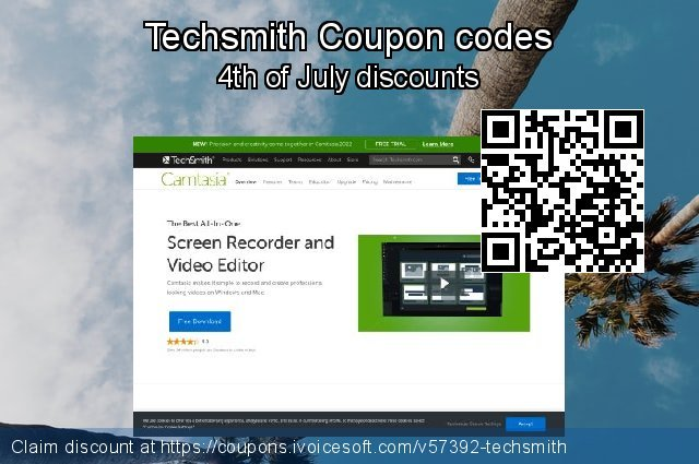 Techsmith Coupon code for 2021 Women Day