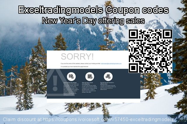 Exceltradingmodels Coupon code for 2018 New Year's Day