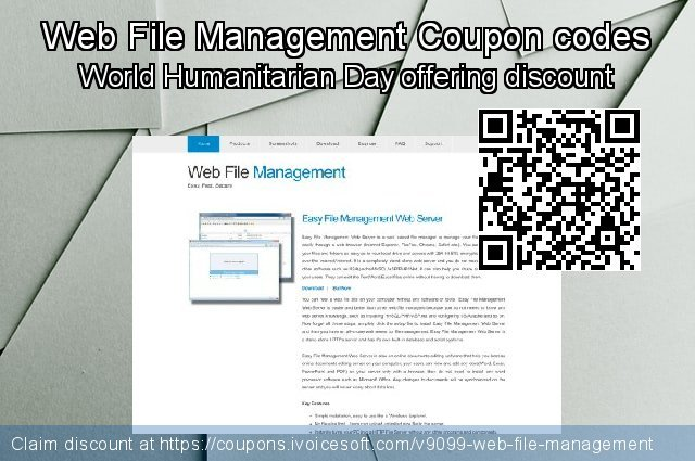 Web File Management Coupon code for 2019 New Year's Day