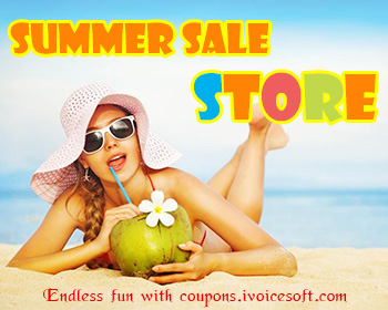 summer season sales iVoicesoft coupon discount